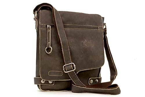 Borsa Messenger Ashwood in pelle - 8352 - Marrone
