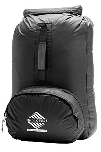 Aqua Quest Himal Backpack - 100% Waterproof 25L Dry Bag - Lightweight, Foldable, External Pocket -...