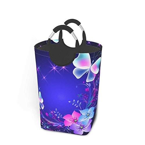 Cesta de almacenamiento para la ropa sucia, diseño de mariposas, grande, plegable, para guardar ropa sucia, juguetes, libros
