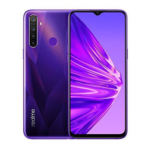 """Realme 5 Smartphone 6.5"""" IPS, 4 GB RAM / 128 GB ROM, Processore Octa-Core, Camera 13 MP, Quad-Camera 12/8/2/2 MP, Viola"""