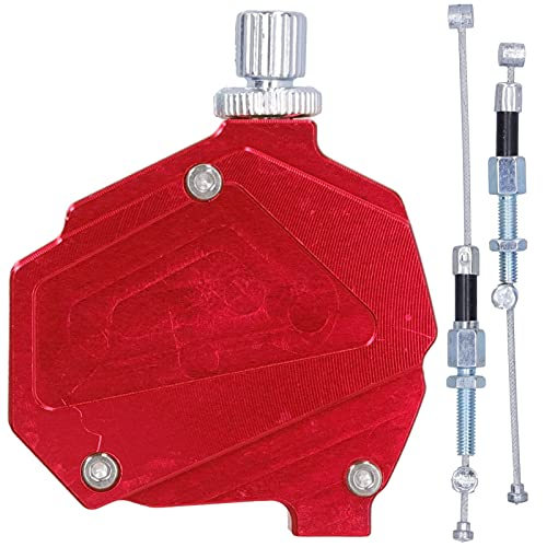 Moto Stunt Clutch Pull Cable Palanca CNC Aluminio para Motos Dirt Bikes(C (Rojo))