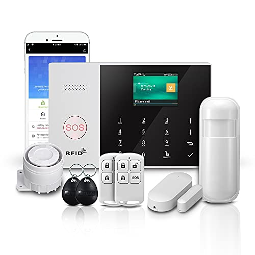 PGST PG-105 GSM & WIFI sistema de alarma de seguridad conmutable,seguridad antirrobo RFID para el hogar y el negocio, control remoto de la aplicación,externa del dial automático,con detector PIR que