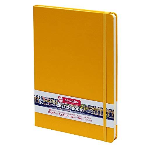 Skizzenbuch, Hardcover A4, 80 Blatt, 140g/m², Gelb