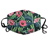 Anti-Dust Mouth Mask£¬Unisex Barracuda with Flower Workout Mask/Earloop Masks