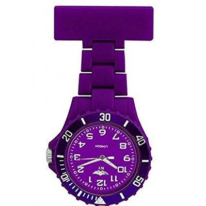 COFCO Reloj de Enfermera Foblow en Gel de Silicona Oscuro para Colgar Relojes de Bolsillo