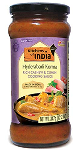 Kitchens of India Cashew and Cumin Cooking Sauce, 12.2 Ounce (Pack of 6)