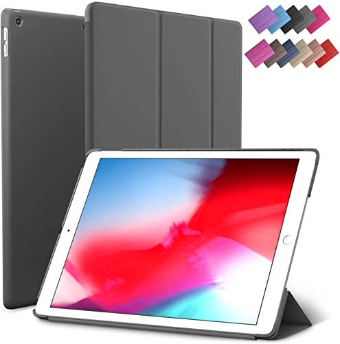iPad Air 3 case, ROARTZ Gray Slim Fit Smart Rubber Coated Folio Case Hard Cover Light-Weight Wake/Sleep for Apple iPad Air 3rd Generation 2019 Model A2152 A2123 A2153 10.5-Inch Display -  19C03