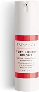 Farmacy Very Cherry Bright Face Serum 1 Fl. Oz! 15% Clean Vitamin C Serum! Vitamin C For Face! Vitamin C-Rich Acerola Cherry And Hyaluronic Acid! Brighten, Firm And Hydrate Skin!