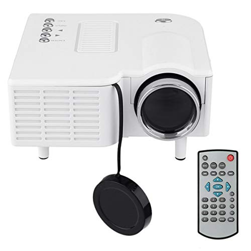 HD-Projector, Mini Video Projector Met Afstandsbediening, HDMI USB Home Theatre-Systeem, LED Micro Movie Projector Voor Home Media Player,White