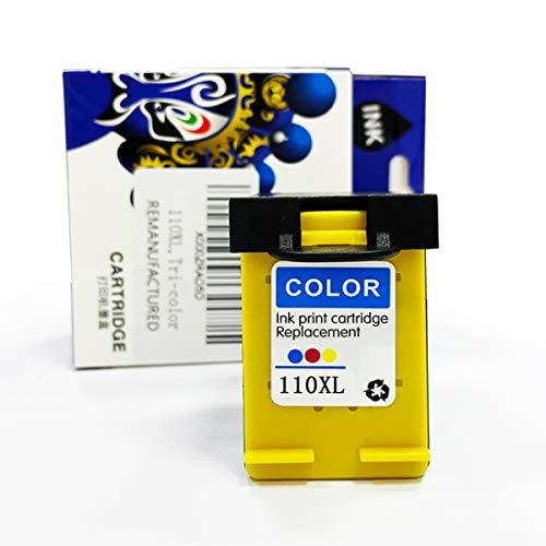 PERSEUS Cartucho Tinta Compatible con HP 110 Color para PhotoSmart A516, A526, A646, CB304AE, CB305AE, CB304AE CB305A HP110 Serie Impresora, Remanufacturado Cartucho Alta Capacidad