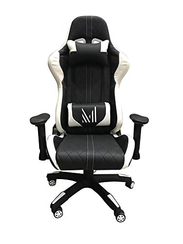 MUNDO IN Silla Gamer JM-7249H Negro Blanco