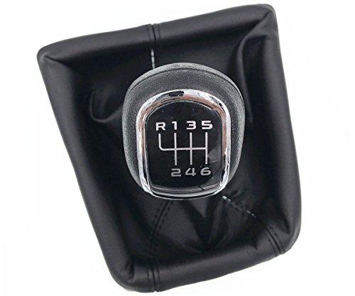HZTWFC Etui de protection botte manuelle à 6 vitesses avec bouton de changement de vitesse manuel pour Skoda Octavia II 09-12 Superb II 08-12 - Yeti 09-12
