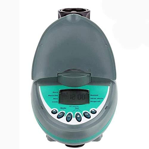 ZHANGXJ Moderno Temporizador de Riego Automático Programador de Riego Jardín Reloj de Riego con Pantalla LED con Cubierta Protectora Impermeable y Programa de Riego Grifo