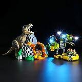 LIGHTAILING Conjunto de Luces (Jurassic World T. Rex vs. Dinosaurio Robótico) Modelo de Construcción de Bloques - Kit de luz LED Compatible con Lego 75938 (NO Incluido en el Modelo)