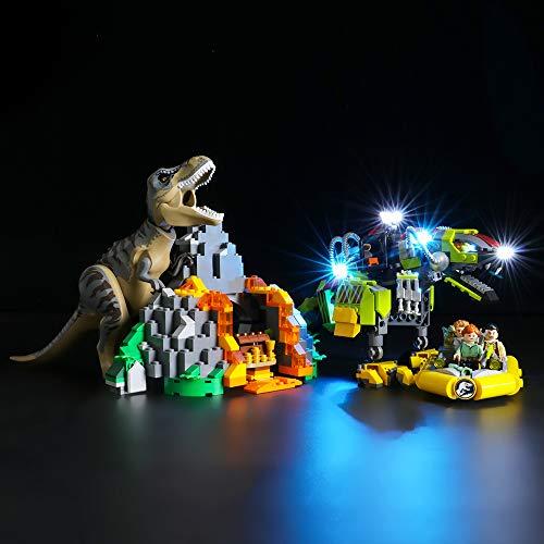 LIGHTAILING Licht-Set Für (Jurassic World T. Rex vs. Dino Mech) Modell - LED Licht-Set Kompatibel Mit Lego 75938(Modell Nicht Enthalten)
