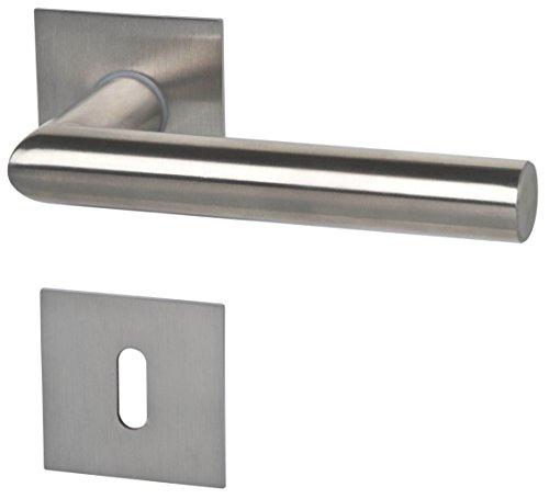 Alpertec 32846003 Piato-R eckig Edestahlfarbig für Zimmertüren Drückergarnitur Türdrücker Türbeschläge Neu