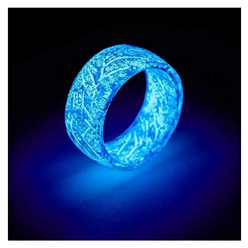 Anillo luminoso de Fnsky, que brilla en la oscuridad, anillos de grieta para hombres, creativos regalos de cumpleaños para mujeres y hombres