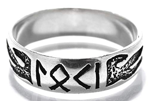Kiss of Leather Anello Loki in argento Sterling 925, misura 52-74