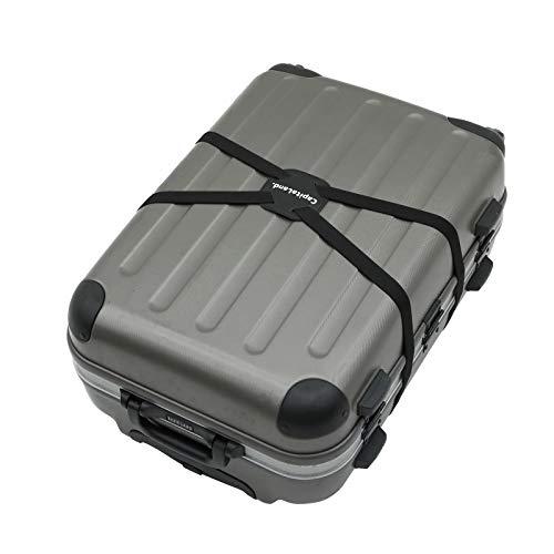 CapitaLand. スーツケース ベルト 荷物固定 荷物まとめるベルト 長さ調整可 旅行便利グッズ 軽量 荷物用固定ベルト ゴム素材 ずり落ち防止 ブラック