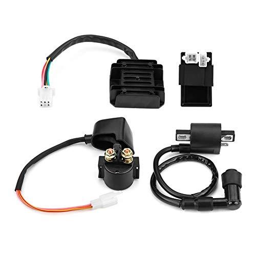 Suuonee Zündspulen CDI-Einheit Regler, Spule + CDI-Einheit + Gleichrichter Regler + Magnet für 150ccm 250ccm PIT Quad Dirt Bike ATV Buggy