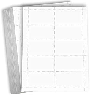 Hamilco Blank Business Cards Card Stock Paper – White Mini Note Index Perforated Cardstock for Printer – Heavy Weight 80 l...