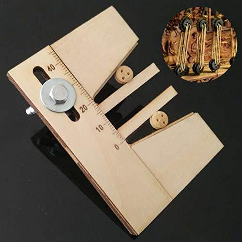 Accesorios para herramientas amarre Arreglo madera ajustable DIY Ojos muertos Kit modelo barco madera Conjunto mano auxiliar Práctico hogar