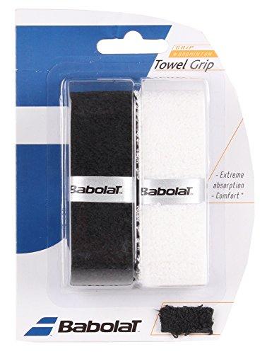 2Grip Towel–Babolat–Badminton Schläger–Schwarz/Weiß