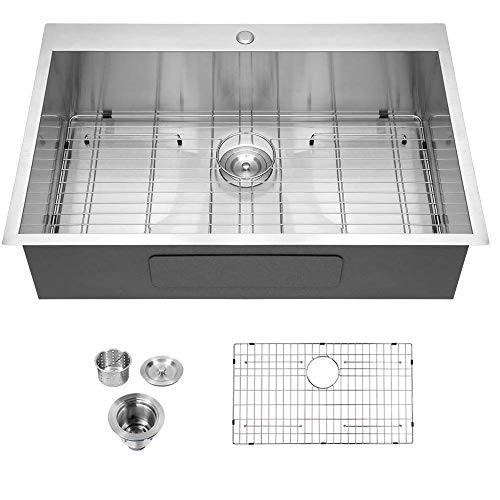 Review Of 33 Kitchen Sink Drop In - Logmey 33x22 Kitchen Sink Stainless Steel Topmount Sink 18 Gauge...