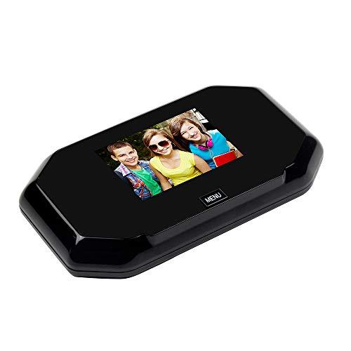 XWSQ Monitor de 3 Pulgadas, Visor de Puerta, Ojo de vídeo Digital, Mirilla de vídeo, cámara de Puerta Oculta, grabación de Timbre, vídeo