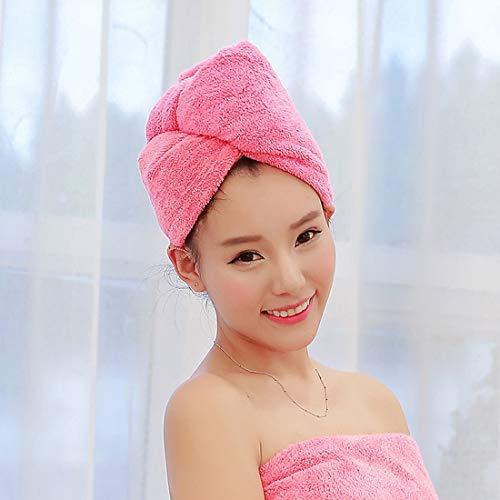 Tissue-Papierservietten Super Absorbent Schnell trocknendes Haar Hut Duschhaube Badetuch for Dame, Größe: 25 x 65 cm (Pink) (Farbe : Magenta)