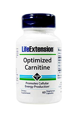 LifeExtension Optimized Carnitine Promotes Cellular Energy Production 60 Caps (Pack of 2)