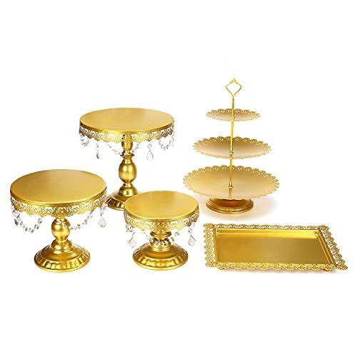 Lzcaure Soporte para magdalenas de metal, 5 unidades, para tartas, postres, bodas, eventos, fiestas, etc