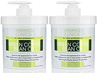 Advanced Clinicals Green Coffee Bean Oil Thermo-firming Cream (Two - 16oz)