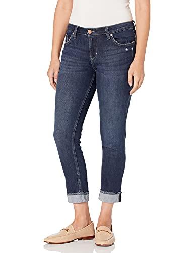 Riders by Lee Indigo - Jeans con flecos para mujer, diseño de novio, Puño con flecos Boyfriend Jean, 12