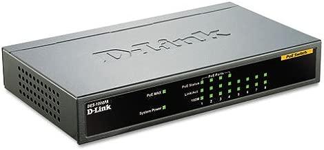 D-Link DES-1008PA 8-Port Fast Ethernet Unmanaged Desktop Switch w/ 4x PoE Ports