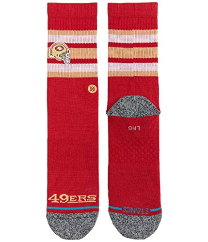 Stance Backfield 49Ers Socken Unisex, Red, L