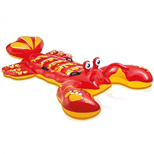 INTEX Reittier HUMMER rot 213 x 137cm aufblasbar Schwimmen Wasser Kinder Schwimmhilfe NEU