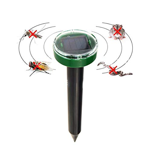 Harddo Solar Power Ultrasone dierverdrijver Mole Snake Bird Mosquito Mouse Ultrasone ongediertebestrijdingscontrole voor de tuin