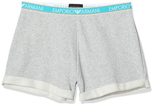 Emporio Armani Underwear Damen Visibility-Iconic Terry Shorts, Grau (Grigio Mel.CHIARO 03748), W(Herstellergröße:S)
