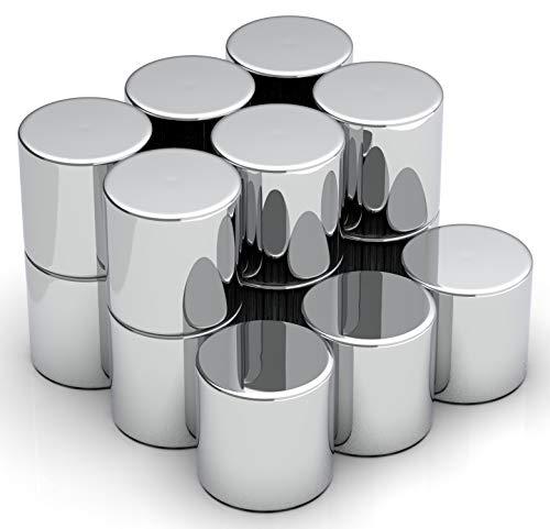 NeoMagNova 15 Stück XL Starke Neodym Magnete für Glasmagnettafel, 10mm Zylinder Magnete für Magnettafel, Glasboard, Whiteboard und Kühlschrank, Magnetstärke N42, Magnet stark
