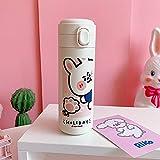 N\C 400 ML Thermos Bottiglia Creativa 304 In Acciaio Inox Faschetta Vuoto Tazza Per Le Donne Viaggio Tazza Kawaii Moda Bottiglie di Acqua