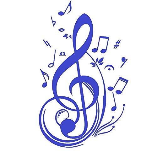 Interesantes notas musicales pegatinas de coche La lap bloqueo pegatinas personalizadas 15 cm 20 cm 25 cm modificación coche pegatinas (color: 5, tamaño: 15 cm)