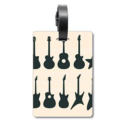 Etiqueta de identificación para Guitarra eléctrica, música, Sonidos de vitalidad, Crucero, Maleta,...