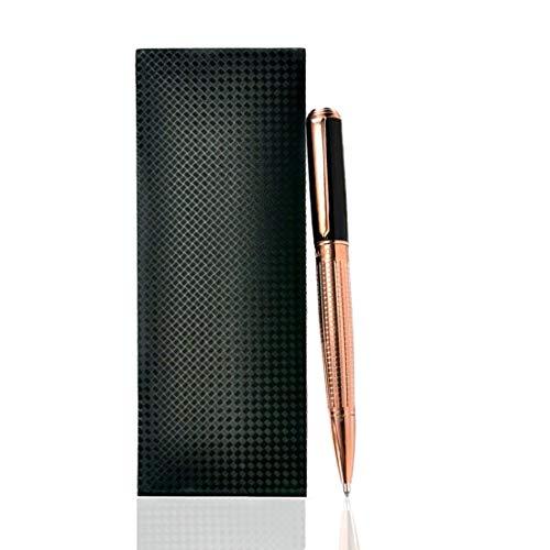 Giabo® Kasai│Luxus Kugelschreiber in Rosegold│Kugelschreiber aus Edelstahl/Kupfer│Edler Kuli mit Klavierlack und einer Anti Rutsch Struktur