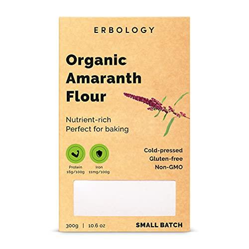 Harina de Amaranto Bio 300g - Rico en Proteínas, Fibra y Minerales - Libre de Gluten