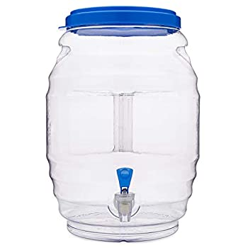 CHAMPS 3 Gallon Jug with Lid and Spout - Aguas Frescas Vitrolero Plastic Water Container - 3 Gallon Drink Dispenser - Large Beverage Dispenser Ideal for Agua fresca and Juice - Drink Jar Containers
