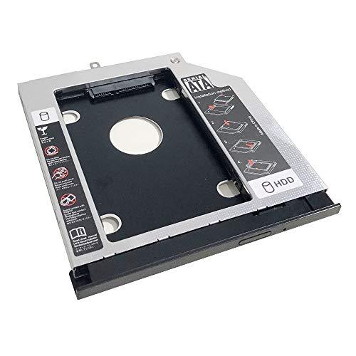 Adaptador de marco óptico para disco duro SSD para Lenovo Thinkpad L560 L570 con bisel frontal y soporte de metal de montaje