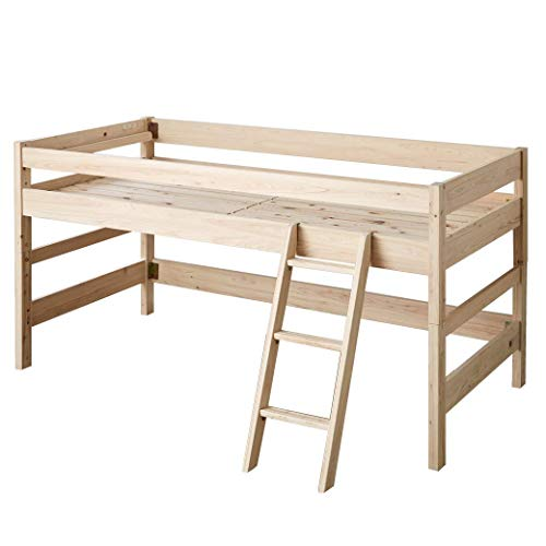 木製 ロフトベッド ロータイプ 総檜ベッド 檜すのこベッド