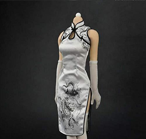 Kleding Model 1/6 Schaal Vrouwelijke Chinese Stijl Cheongsam Kleding Pak Lange Jurk Van toepassing op voor 12 Inch Actie Figuur Body Accessoires