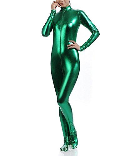 Anyu Unisex Ropa para Halloween para Los Adultos Cosplay Invisible Verde S